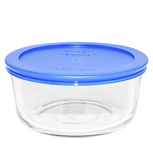 Bowl Redondo x4 Pieza con Tapa Plástica