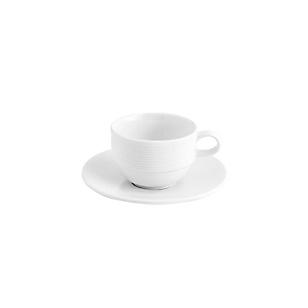 Taza con Plato para Café Apilable Blanco