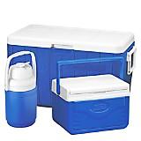 Cooler 3000000023 Azul 45,5 lt + Mini Cooler Flip Lid 4,7 lt + Jarra 1,26 lt