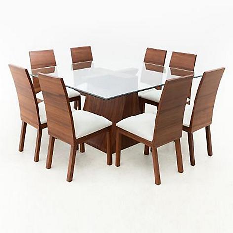 Juego de comedor mica jussara 8 sillas for Comedor 8 sillas chile