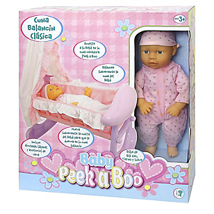 Muñeca Bebé 40 cm con Cuna