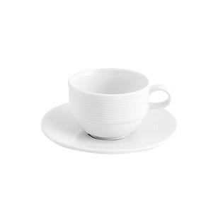 Taza con Plato para Té Apilable Blanco