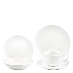 Juego Vajilla Porcelana White 4 Personas 20 Piezas