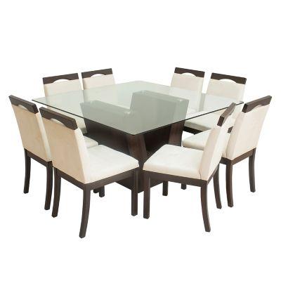 Juego de comedor basement home vattaro 8 sillas for Juego comedor pequea o