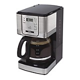 Cafetera con Selector Digital 12 Tazas Silver con Negro