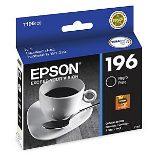 Epson Cartucho de Tinta T196120 Negro