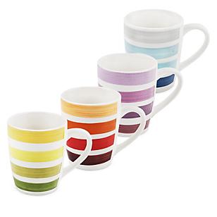 Set x4 Mugs a Rayas 14 oz