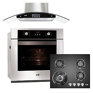 Combo Cocina Empotrable + Campana Venus Plus + Horno Eléctrico