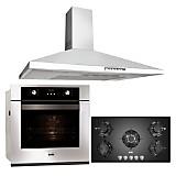 Combo Cocina Empotrable SOLCO033 + Campana Italian Slim + Horno Eléctrico SOLHO006