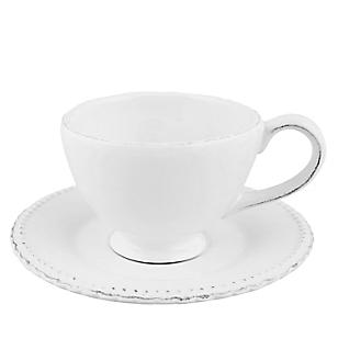 Taza de Té con Platito Libélula Blanco