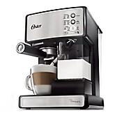 Cafetera Prima Latte Silver con Negro