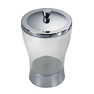Canister Zia Clear Silver