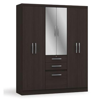 Armario con espejo 7 puertas y 2 cajones for Puertas correderas sodimac