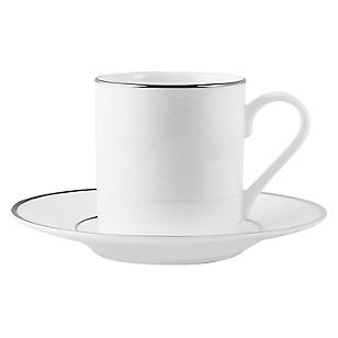 Taza con Plato para Café Silver