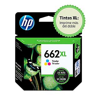 Tinta 662 XL CZ106AL Tricolor