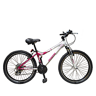 Bicicleta Crystal Rock Blanco Fucsia