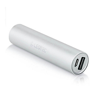 Leotec Power Bank 2600 mAh 5V 1A Silver