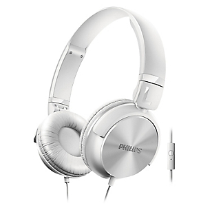 Audífono DJ Blanco con Micrófono Incorporado