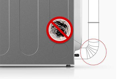 Tubo que detectado si se atasca algo en la secadora