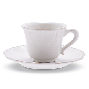 Taza Té y Plato Em Blanco