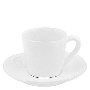 Taza Café y Plato Blanco
