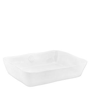Fuente Rectangular Blanco 35 cm