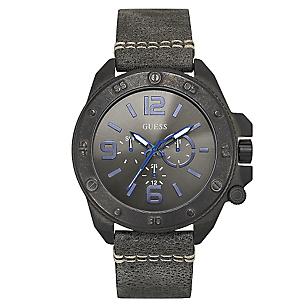 Reloj Caballero Cuero Negro
