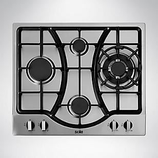 Cocina Empotrable 4 Hornillas SOLCO037 58 cm Inox