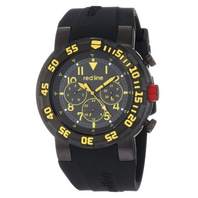 Redline Reloj de Silicona Negro para Hombre