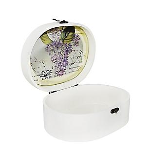 Caja Ovalada Flores 24X17CM