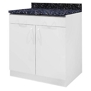 Mueble Bajo 80 cm 2 Cajones Blanco
