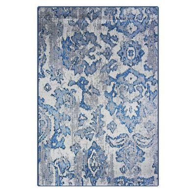 Alfombra dib ikat 160 x 235 cm gris turquesa for Alfombras falabella