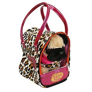 Perrito Pug En Bolso Leopard