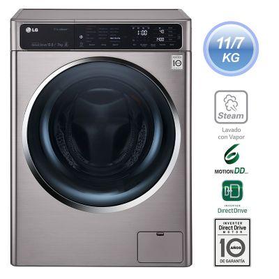 LG Lavadora Secadora 11 kg / 7 kg Silver