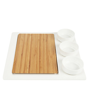 Set Piqueo 5 piezas Tabla+3bowl+Base Vi