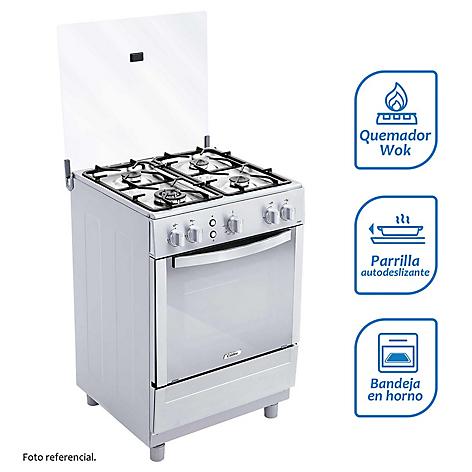 Cocina a gas coldex 4 quemadores cx651 inox for Falabella cocinas