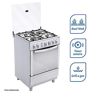Cocina a Gas 4 Quemadores CX681 Inox