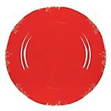 Plato Sitio Decorativo Rojo