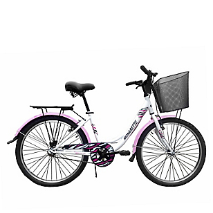 Bicicleta Genova 24 Blanco Lila