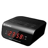 Radio Reloj Despertador CR2060 Negro