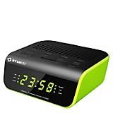 Radio Reloj Despertador CR2060 Verde