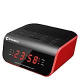 Radio Reloj Despertador CR2060 Rojo