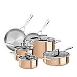 Set ollas de triple recubrimiento de cobre