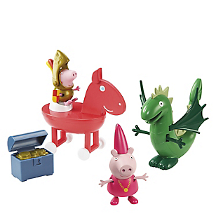 Set Princesa Peppa George Y Dragon