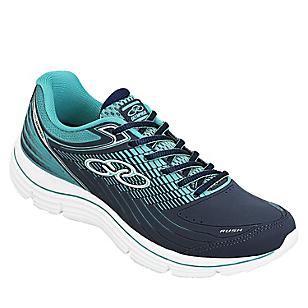 Zapatillas Mujer Running Rush Marino Turquesa