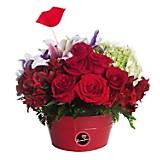 Lata con 12 Rosas y Variedad