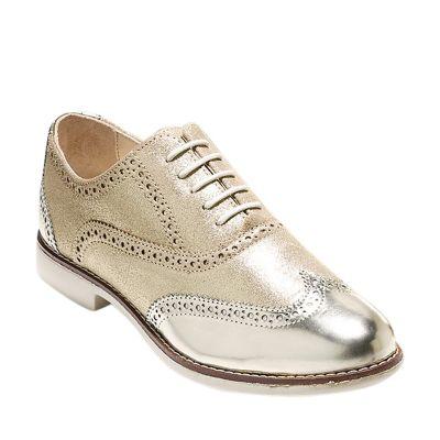 Cole Haan Zapatos Vestir Mujer CH Gramercy OX W00723 Dorado