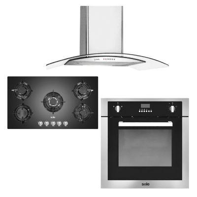 Sole Combo: Cocina + Campana extractora + Horno