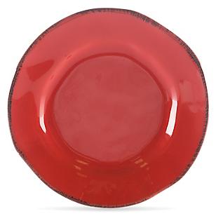 Plato de ensalada Regina Rojo