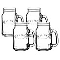 Set 4 Mason Jar 400 ml Transparente